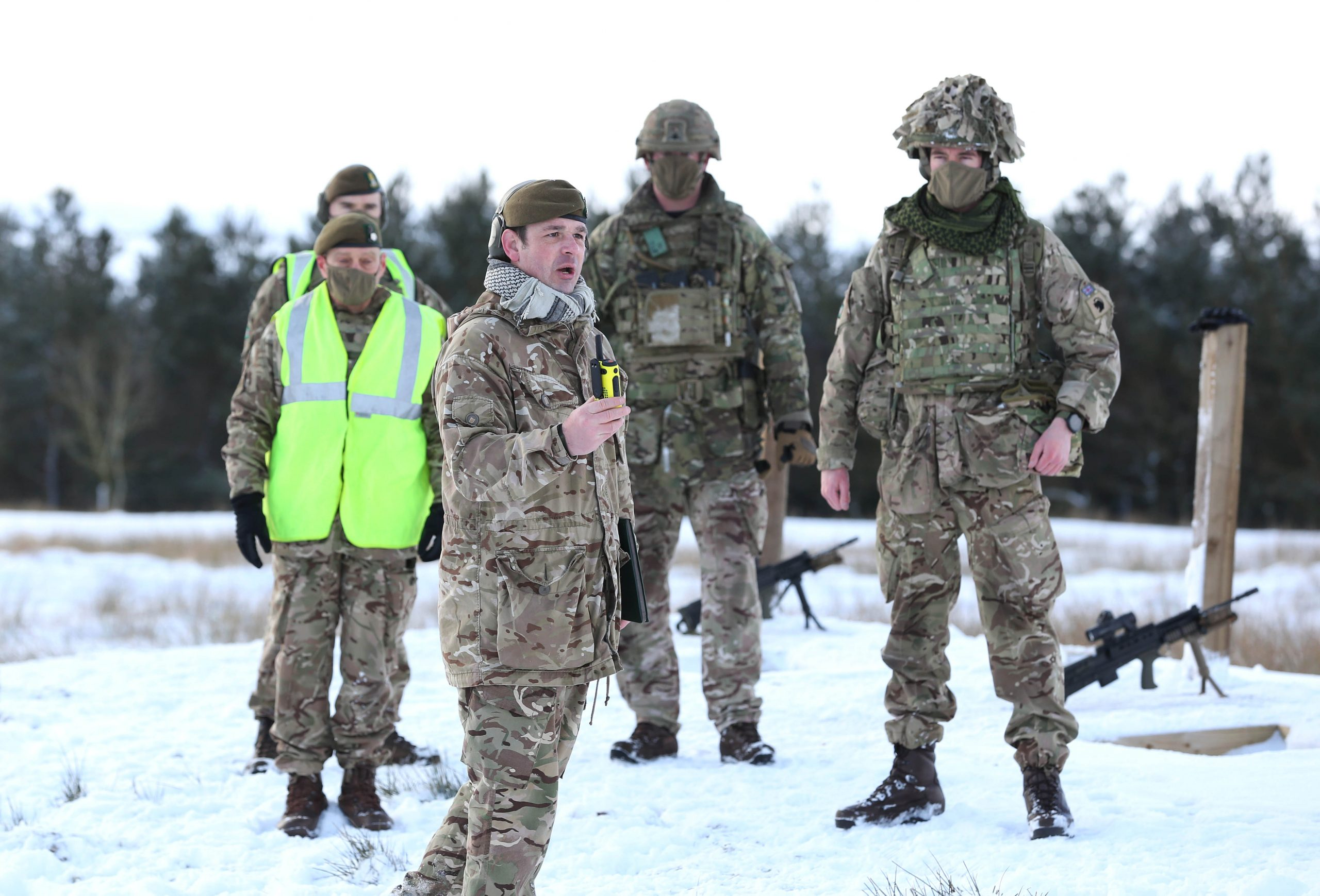 Brett Squire giving instruction to reservists at Battle Hill Range