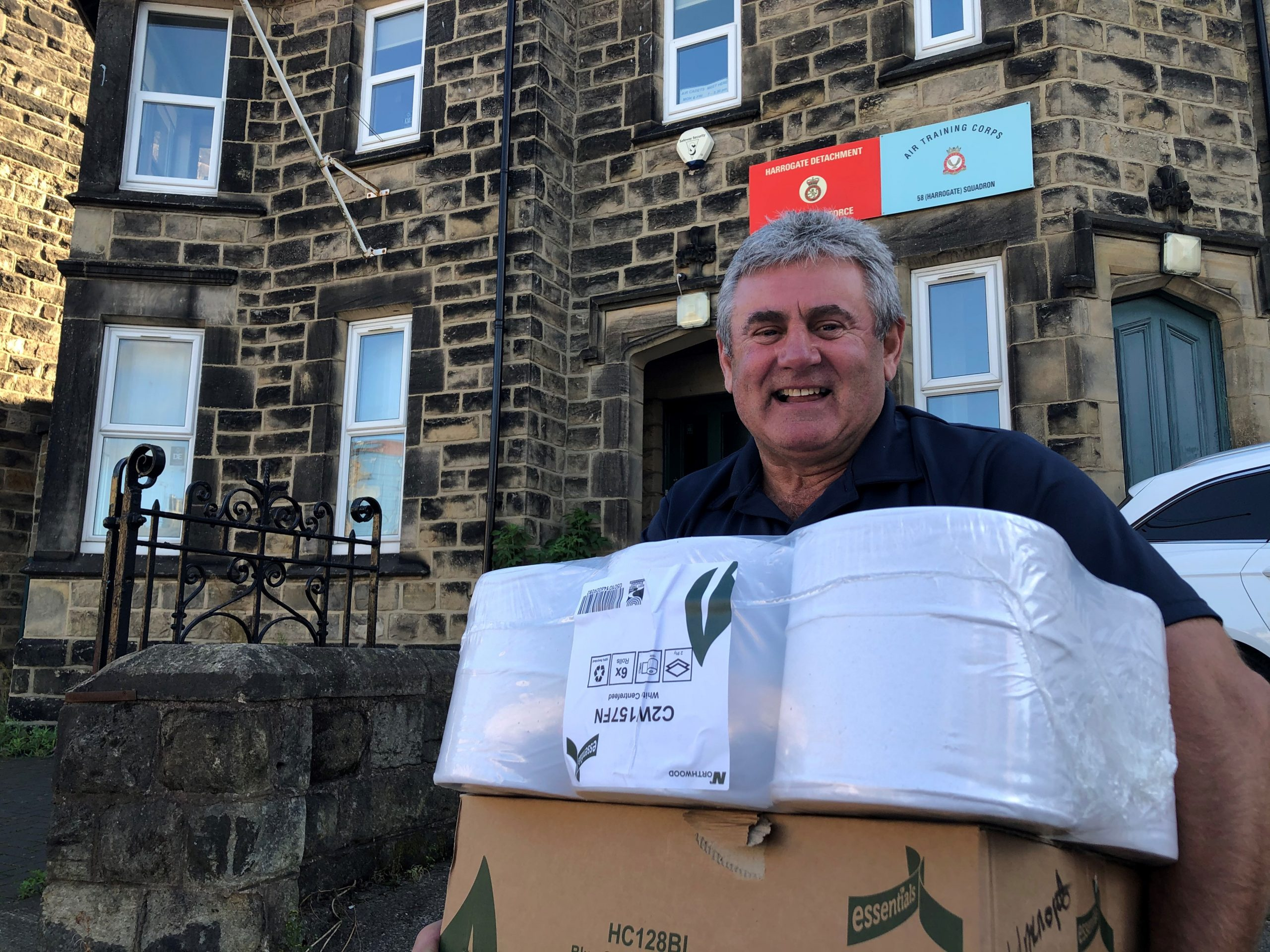 Mal Clark delivering supplies