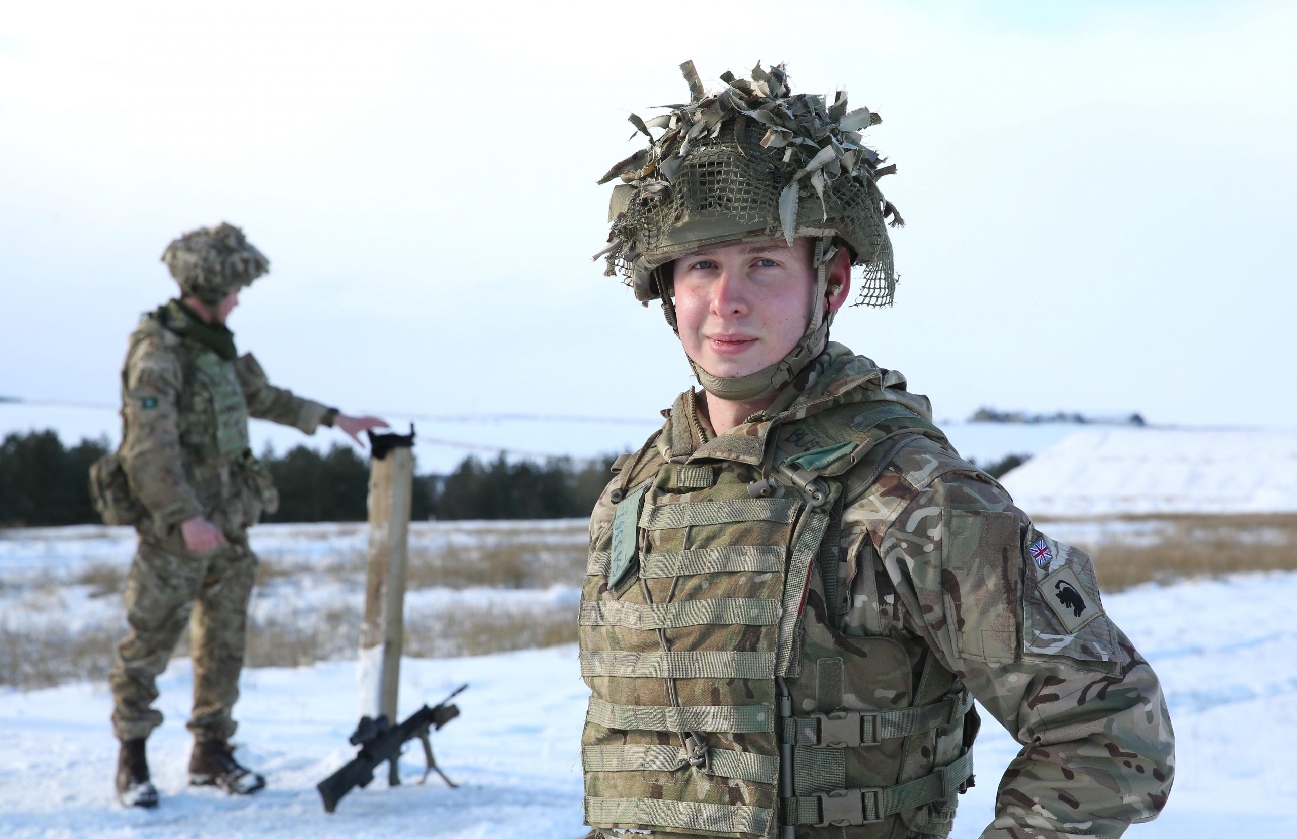 LCpl Mike Gater from Wakefield at Battle Hill Range
