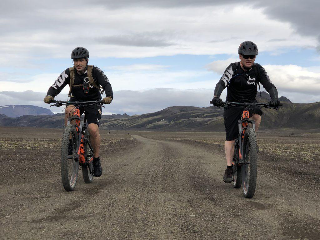 yeomanry mountain biking in Iceland