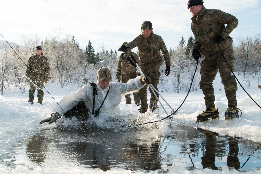 Reserve from HMS Ceres training in Norway