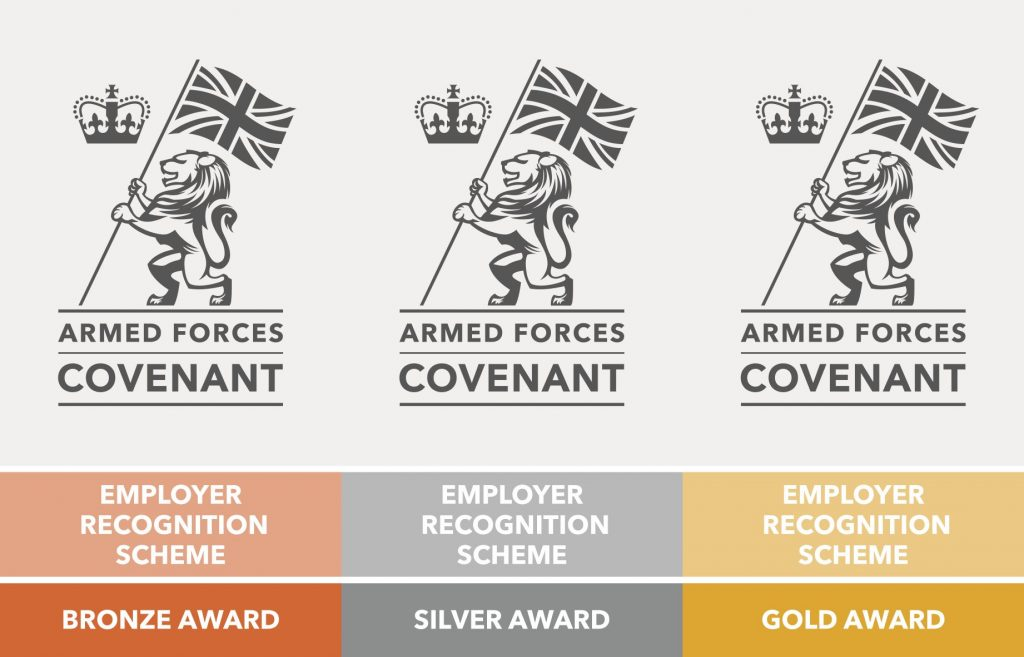 Bronze silver and gold award logos
