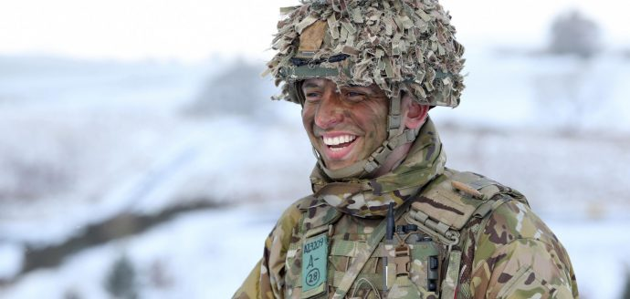 Army reserve soldier