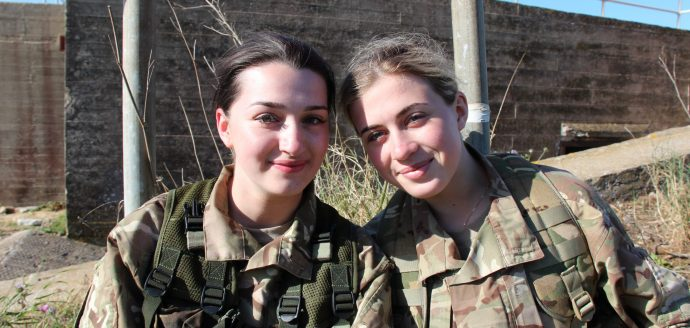 Two girl cadets in Gibraltar