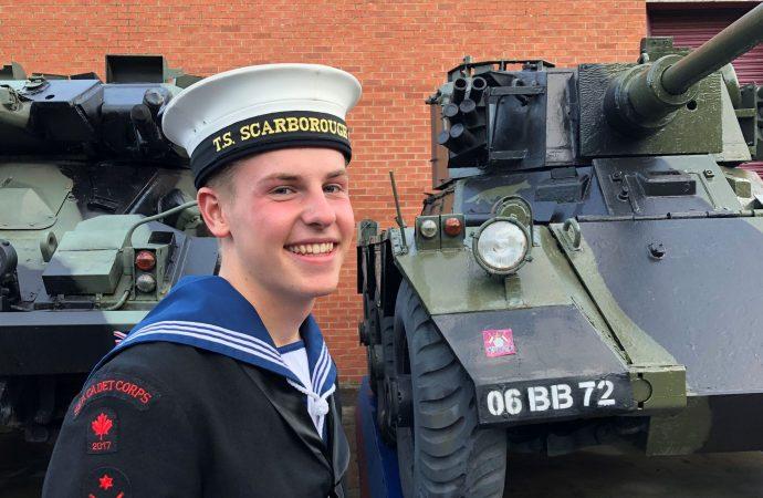 Leading cadet Alfie Allen