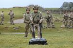 Reservist Jeremy Turner practices casualty drag