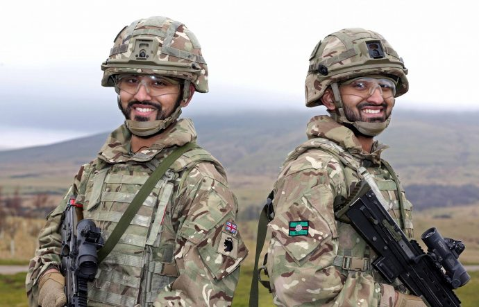 Twins and reservists Umar and Ibrahim Choudhury