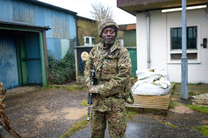 Senior aircraftsman Ochieng Ogol at RAF Honington