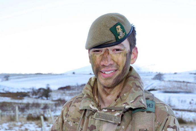 Army reservist Adam Wisdish