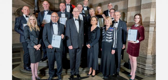 Group photo of silver ERS award winners 2019