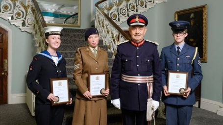 2019 cadet winners with Her Majesty's Lord-Lieutenant for South Yorkshire Andrew Coombe.