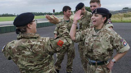 Volunteer with cadets