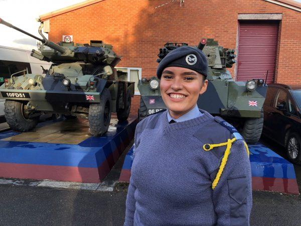 Smiling air cadet