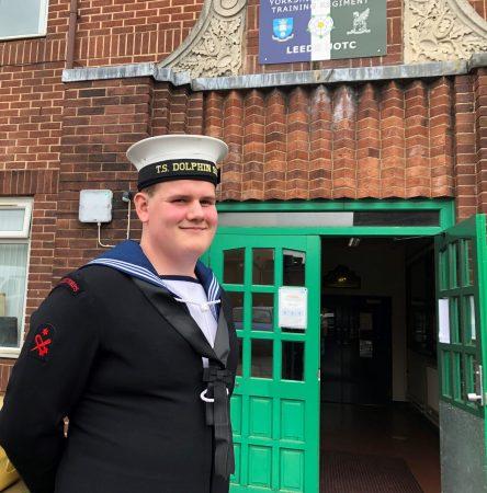 Formally dressed sea cadet