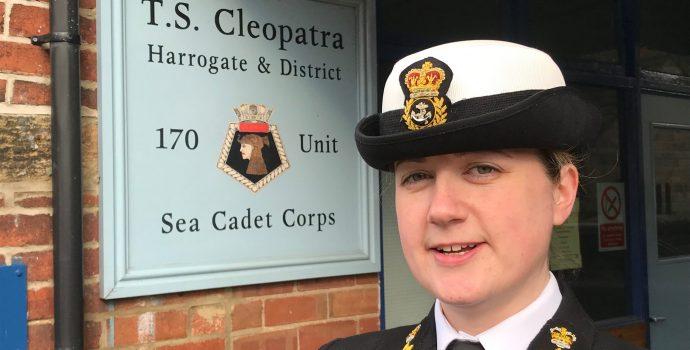 Sea cadet commanding officer in uniform
