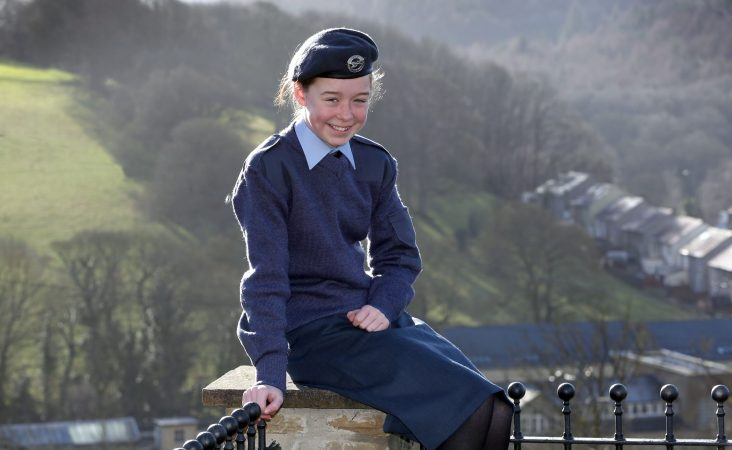 Smiling young new air cadet recruit