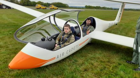 CAdet and instructor in Glider