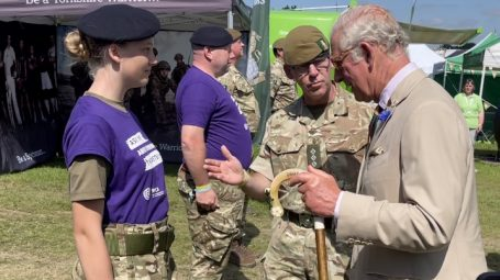 Cadet chats to Prince Charles
