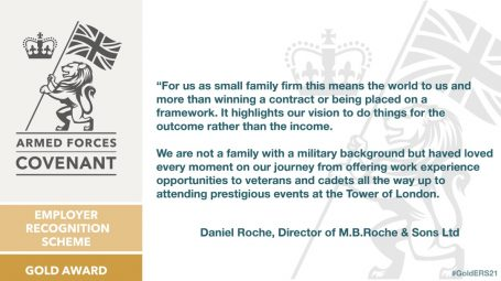 Image with quote from Gold Award winners MB Roche which is repeated in the story text