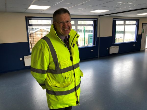 Man in high visibility jacket