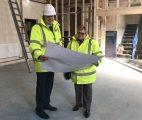 RFCA surveyor Ian Thompson with property board member wing commander Karen Webster